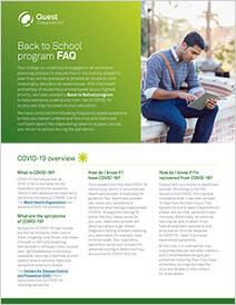 FAQ for students Brochure